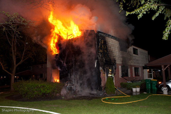 Wheeling Townhouse fire on Custer Court 5-19-11