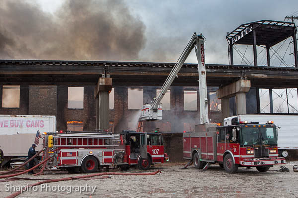 Chicago Fire Department 4-11 Alarm fire 12-29-12 for the commercial warehouse fire at 2444 W. 21st Street
