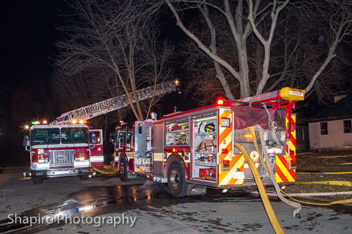 houe fire at 827 Bryant Avenue in Winnetka IL 1-15-12
