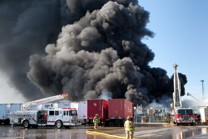 Zion Fire Department 3rd Alarm fire 6-17-12 at 1817 Kenosha Road large fire