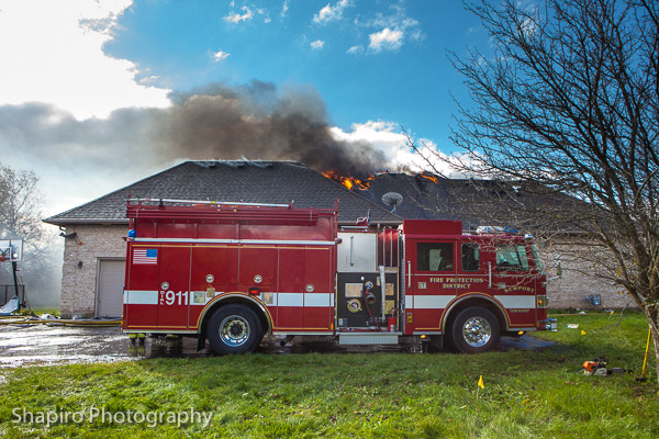 4 alarm house fire in Wadsworth Illinois 10-24-13 Newport Township FPD Larry Shapiro photography