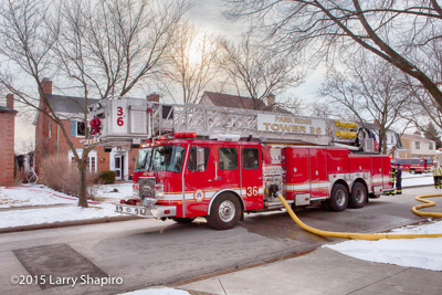 Park Ridge house fire 2-18-16 105 Elmore Street shapirophotography.net Larry Shapiro photographer fire scene E-ONE fire trucks