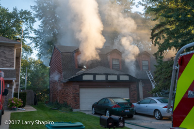 house fire at 96 University Drive in Buffalo Grove IL 9-9-17 Buffalo Grove Fire Department