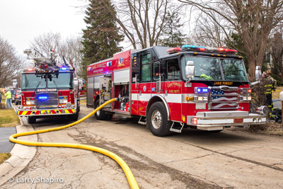 House fire in Lake Forest IL 2-23-17 at 81 W North Avenue Larry Shapiro photographer Shapirophotography.net