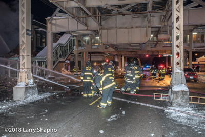 2-11 alarm fire in Chicago 2-12-18 at 4749 W Lake Street Chicago Fire Department Larry Shapiro photographer #larryshapiro shapirophotography.net fire trucks fire scene E-ONE Cyclone II tower ladder Chicago FD Towe Ladder 14