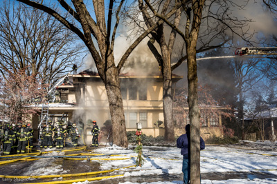 house fire in Evanston IL 1-4-18 at 2865 Sheridan Place Evanston Fire Department