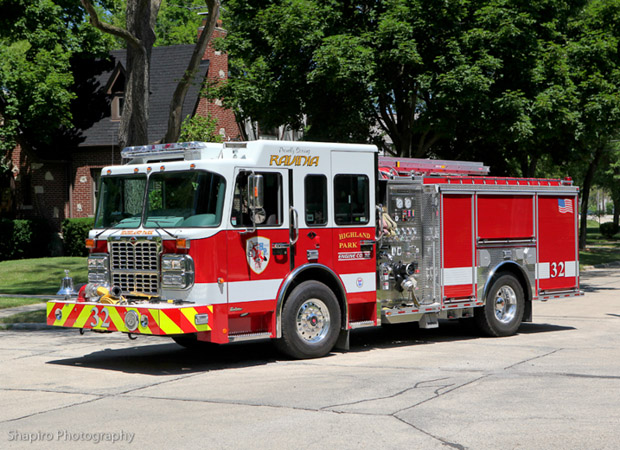 Highland Park Fire Department Spartan Crimson engine 32