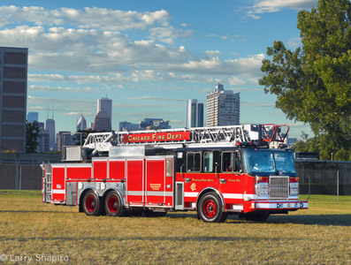 Chicago Fire Department Spartan Crimson aerial