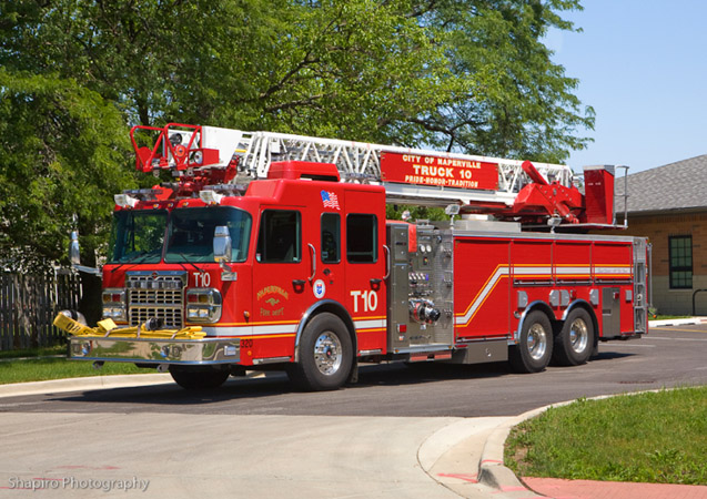Naperville Fire Department truck 10 Spartan Crimson quint