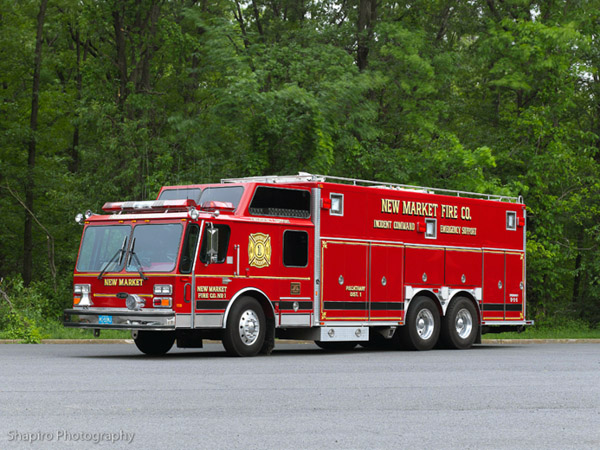New Market Fire Co District 1, Piscataway, NJ EONE Hurricane Hush HDR Command Post