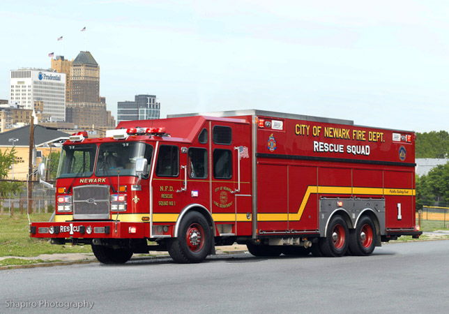 Newark Fire Department EONE Rescue 1