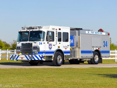 Fort Worth Fire Department Engine 34 Spartan Rosenbauer General