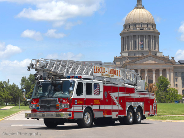 Oklahoma City EONE Quest 135' aerial ladder