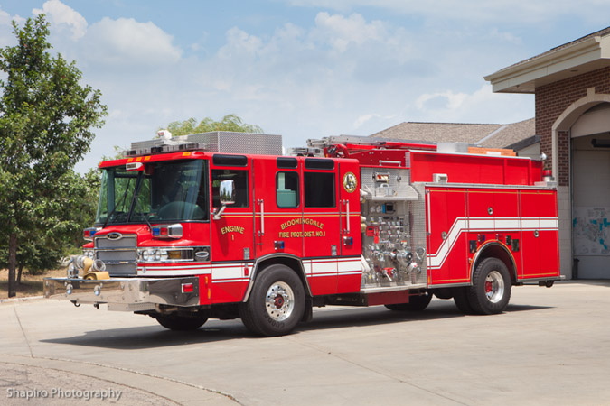 Bloomingdale Fire District Pierce Quantum Engine 1