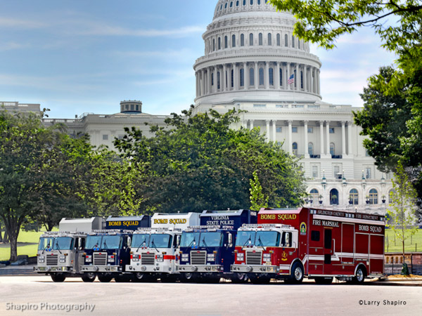 Rosenbauer bomb trucks National Capitol Regional Bomb Squad Working Group