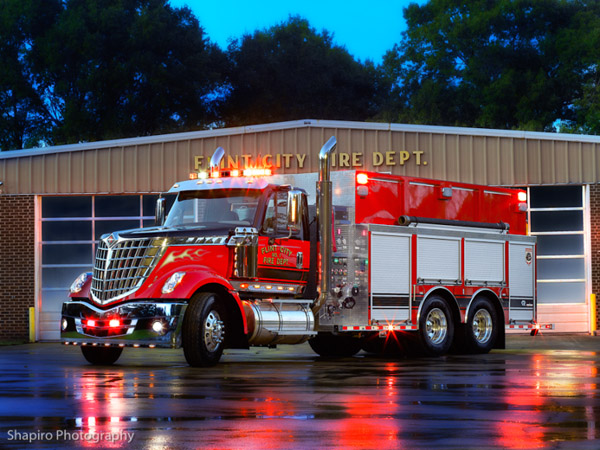Flint City Fire Department Decatur AL IHC Lonestar Rosenbauer pumper tanker