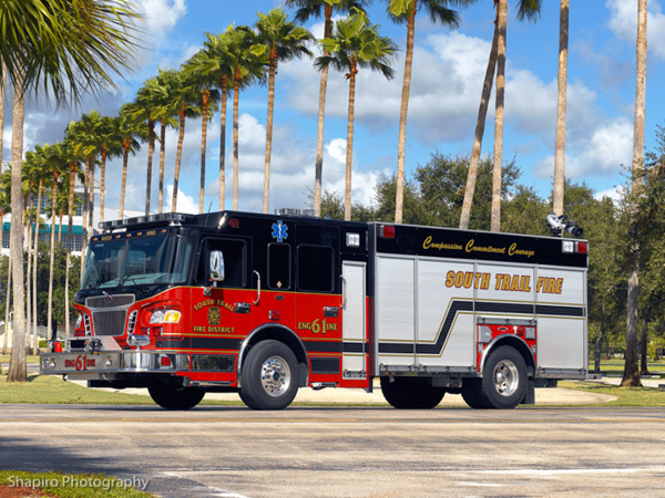 South Trail Fire District Spartan Rosenbauer engine