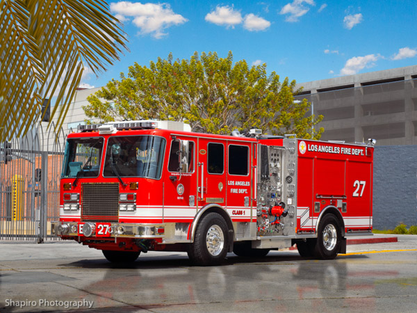 Los Angeles Fire Department Engine 27 KME LAFD