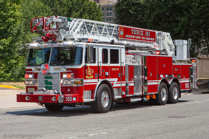 Arlington County Fire Department Truck 105 Pierce Arrow XT