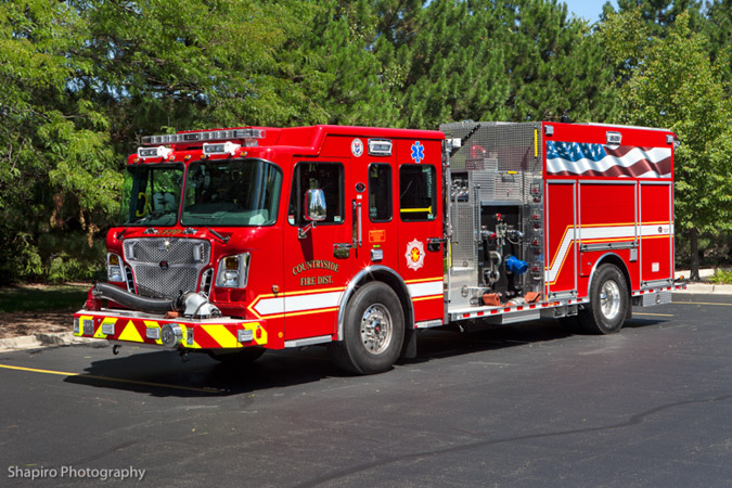 Countryside Fire Protection District FPD Spartan Gladiator Rosenbauer Engine 412