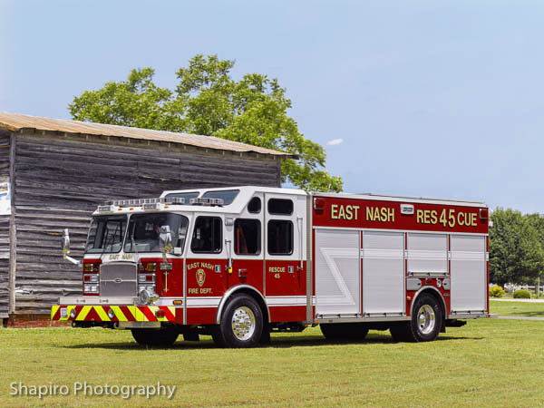 East Nash Voluunteer Fire Department, Wilson, NC 2013 E-ONE Typhoon HDR Larry Shapiro Photography