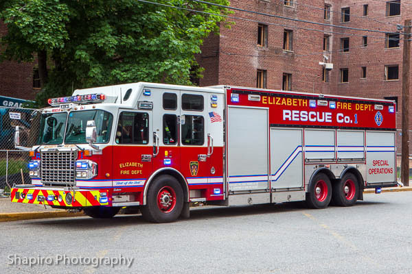 Elizabeth NJ Fire Department fire trucks photos shapirophotography.net