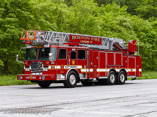 Boston Fire Department Ladder 17 new KME aerialcat Larry Shapiro