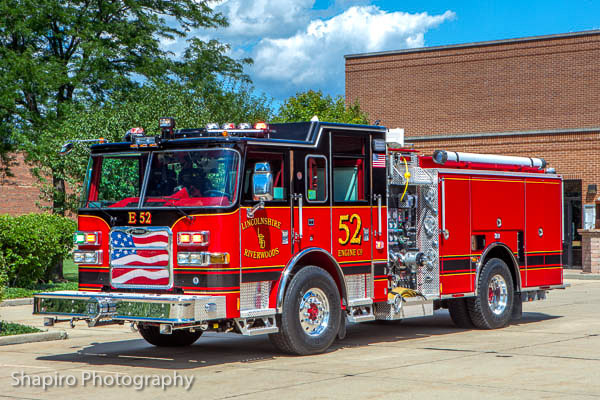 Lincolnshire Riverwoods FPD Engine 52 Pierce Arrow XT fire engine Larry Shapiro photography