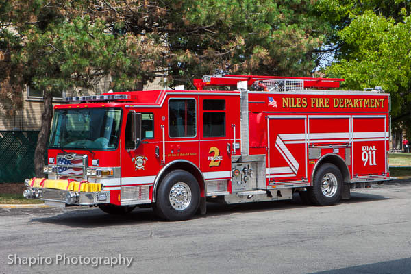Niles FIre Department Engine 2 2013 Pierce Dash CF PUC Larry Shapiro photography shapirophotography.net