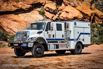 Colorado Department of Fire Prevention and Control fire truck KME Type 3 Wildland engine IHC 7400 chassis Larry Shapiro photographer shapirophotography.net