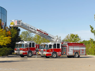 Buffalo Grove Fire Department Ferrara units
